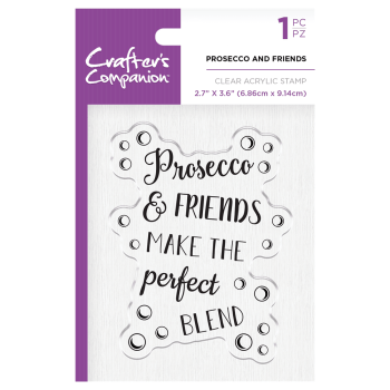 Crafter's Companion Clear Acrylic Stamp - Prosecco and Friends