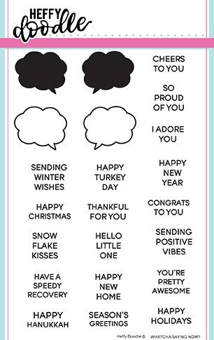 Heffy Doodle - Whatcha saying now? Clear Stamps