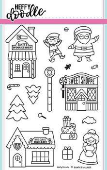Heffy Doodle - Santa's Village clear stamps