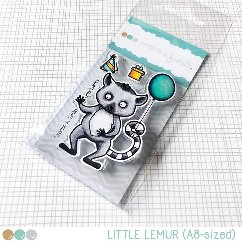 Cretate a smile - Little Lemur clear stamp