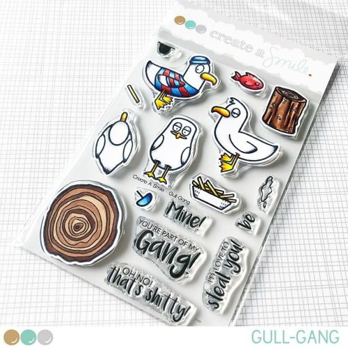 Cretate a smile - Gull Gang?! clear stamp