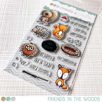 Create a smile - Friends In The Woods clear stamp