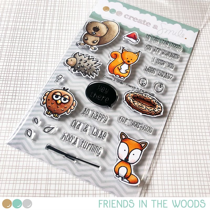 Cretate a smile - Friends In The Woods clear stamp