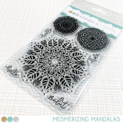 Cretate a smile - Mesmerizing Mandalas clear stamp