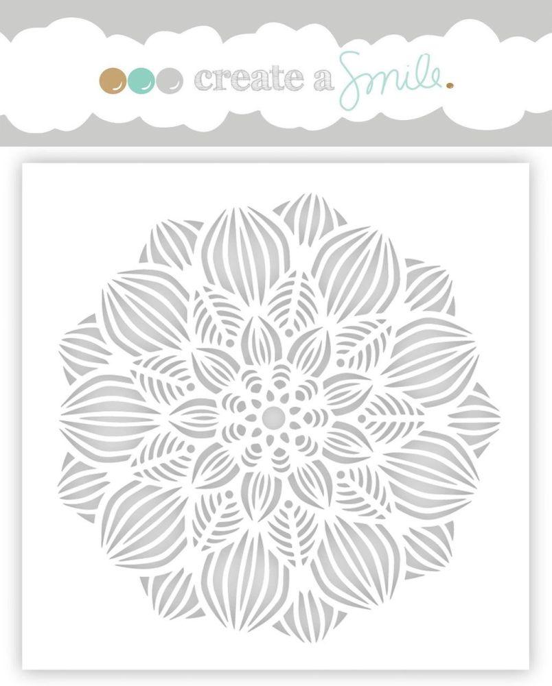 Create a smile - Blossom stencil