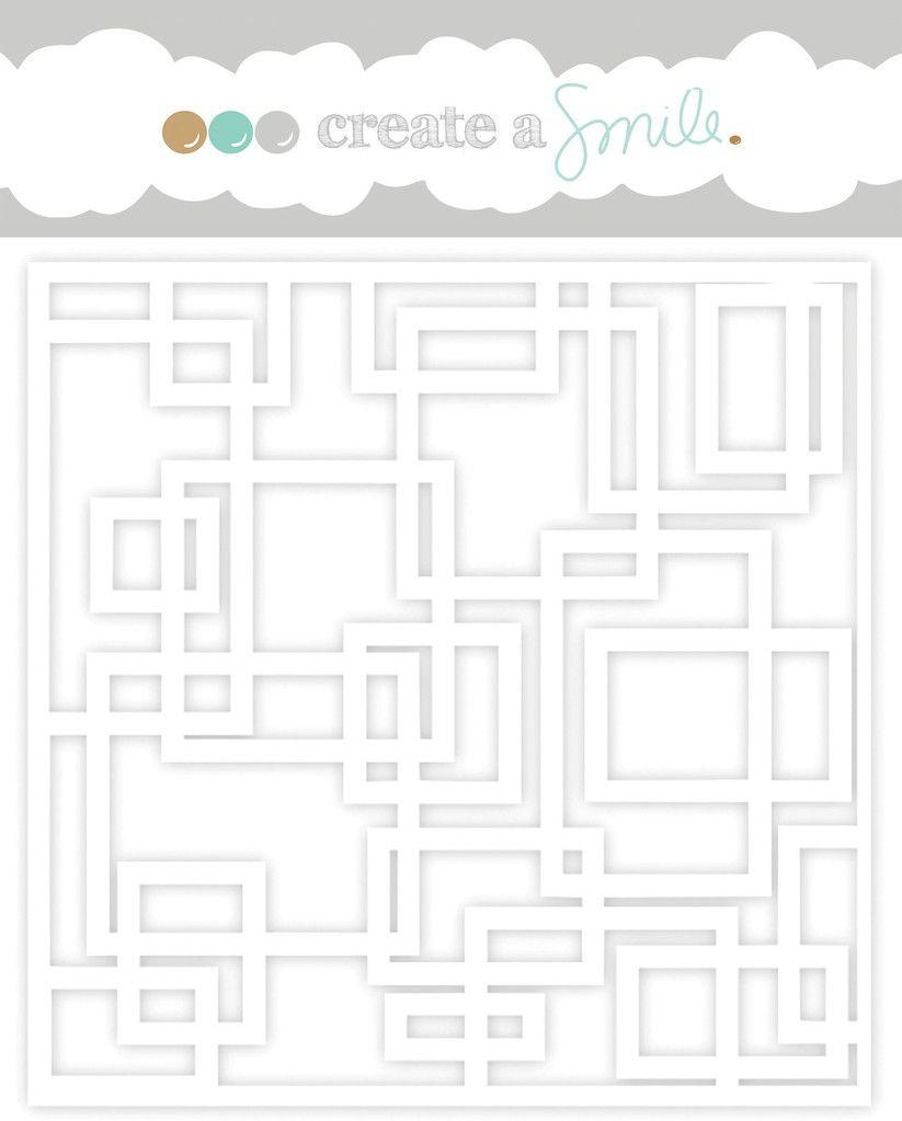 Create a smile - Boxes stencil
