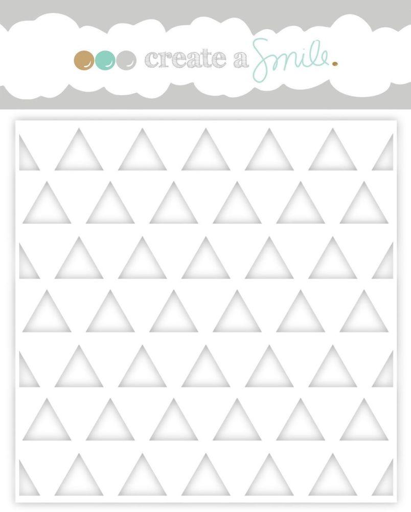 Create a smile - Triangles stencil