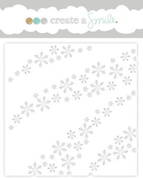 Create a smile - Wave of Snowflakes stencil