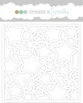 Create a smile - Lots of Stars stencil