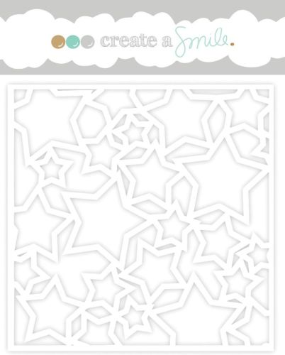 Create a smile - Lots of Stars stencil