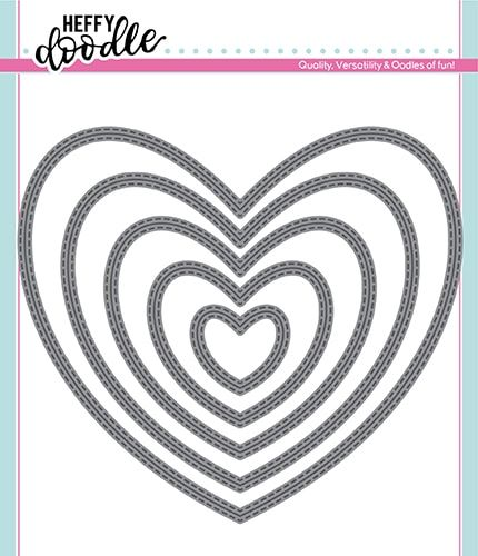 Heffy Doodle Stitched Hearts dies