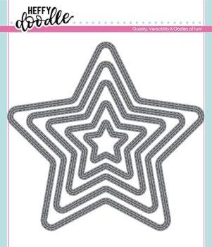 Heffy Doodle Stitched Stars Dies