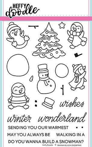 Heffy Doodle - Wanna build a snowman clear stamps