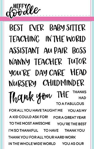 Heffy Doodle - Teach Me Words clear stamps