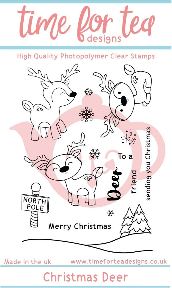 Time For Tea - Christmas Deer Clear Stamp Set