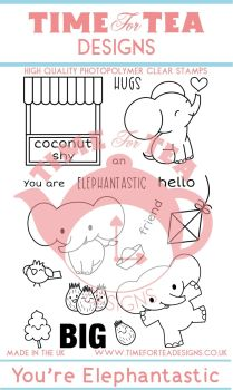 Time For Tea - Elephantastic Clear Stamp Set