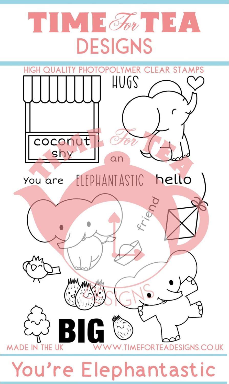 Time For Tea - Elephantastic Clear Stamp Set