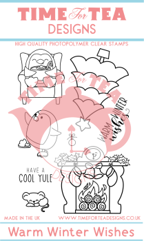 Time For Tea - Warm Winter Wishes Clear Stamp Set