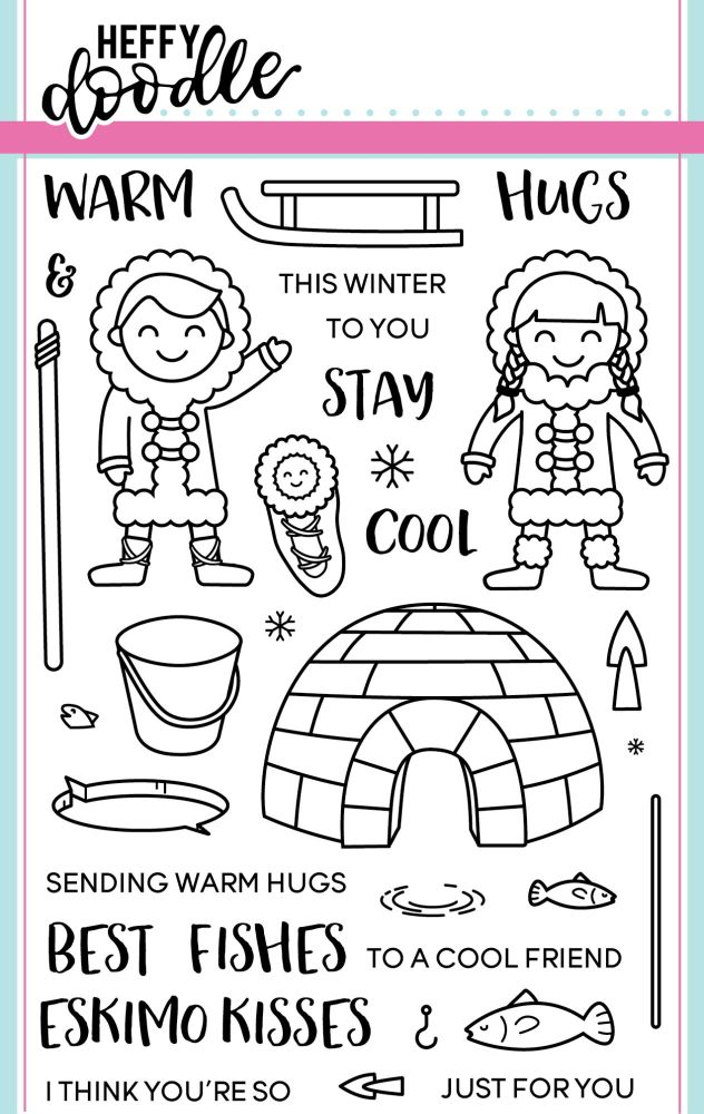 Heffy Doodle - Warm Hugs clear stamps