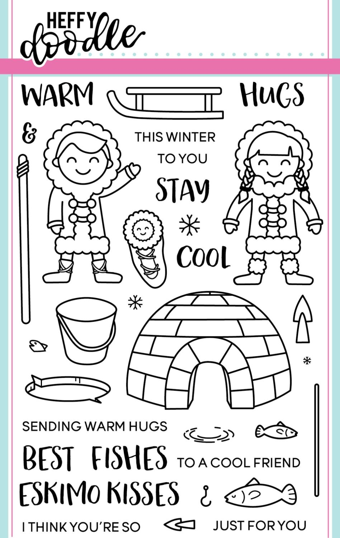 Heffy Doodle - Warm Hugs clear stamps
