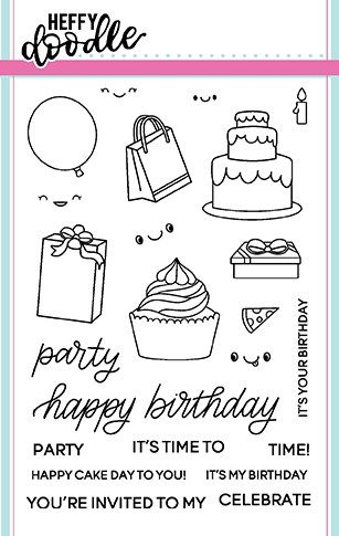 Heffy Doodle - Party Palooza clear stamps