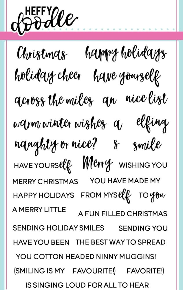 Heffy Doodle - Elfing Christmas Words clear stamps