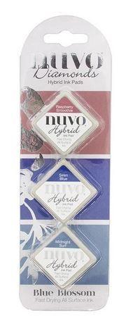 Nuvo - Diamond Hybrid Ink Pads - Blue Blossom