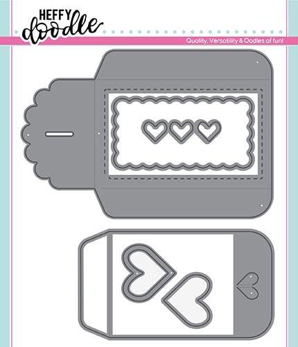Heffy Doodle Heart gift card pocket dies