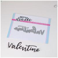 Heffy Doodle - Valentine word die