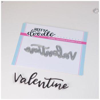 Heffy Doodle Valentine word die