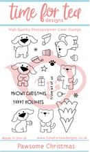 Time For Tea - Pawsome Christmas Clear Stamp Set