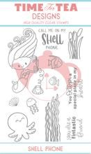 Time For Tea - Shell phone Clear Stamp Set