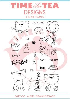 Time For Tea - Mew are pawsome Clear Stamp Set