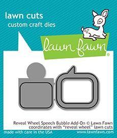 Lawn Fawn Reveal Wheel Speech Bubble Add-On Dies