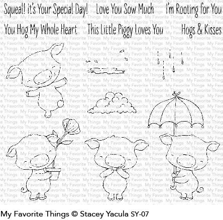 My Favorite Things  Piggy Pebbles Clear Stamps