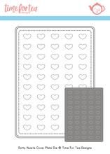 ***NEW***Time For Tea - Dotty Hearts Cover Plate Die set