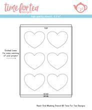 Time For Tea - Heart grid masking stencil
