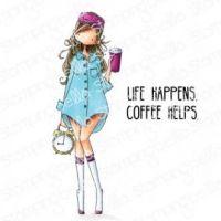 Stamping Bella - CURVY GIRL loves coffee