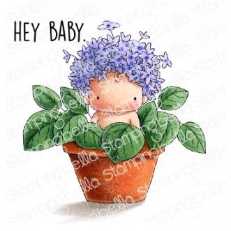 Stamping Bella - Hydrangea baby in pot