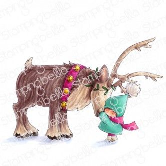 Stamping Bella - Bundle girl with a reindeer