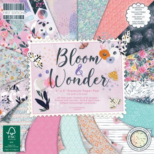 First Edition 6x6 FSC Paper Pad Bloom and Wonder