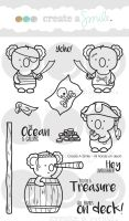Create a smile - All Hands On Deck! clear stamp
