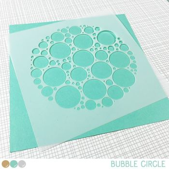 Create a smile - Bubble circle stencil
