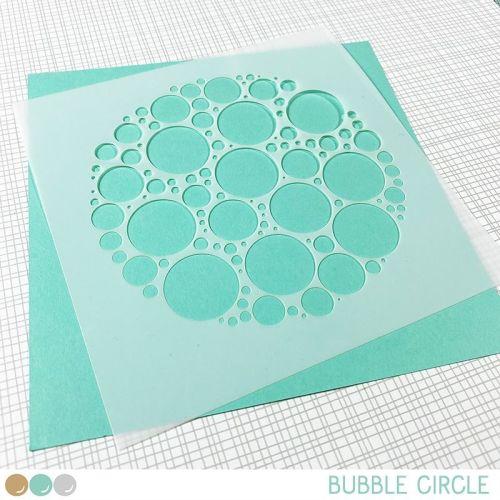 Create a smile - Bubble circle stencil