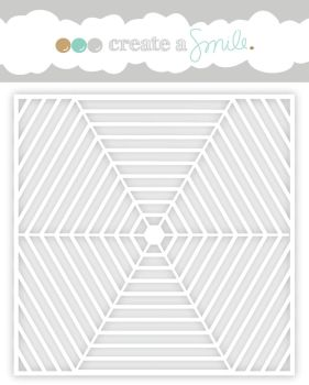 Create a smile - Hexagon web stencil