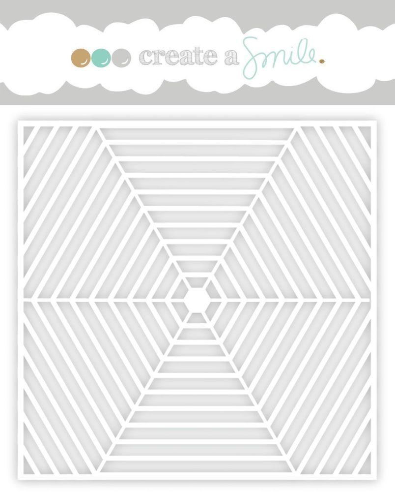 Create a smile - Hexagon web stencil