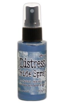 Faded Jeans - Tim Holtz Distress Oxide Spray