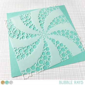 Create a smile - Bubble rays stencil