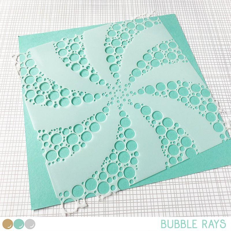 Create a smile - Bubble rays stencil