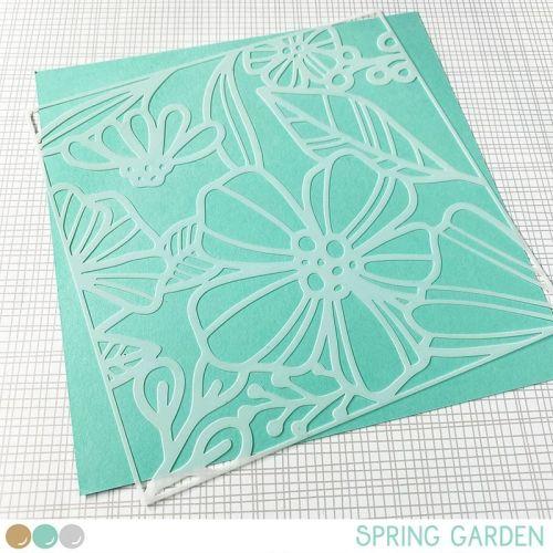 Create a smile - Spring Garden stencil